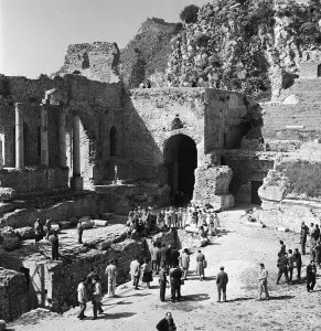 Greek Theatre with Tourists