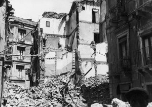 Destructions following the Air Raid of 15th-16th August