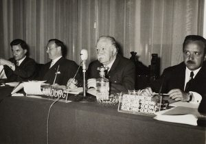 Joseph Bech during the Messina Conference