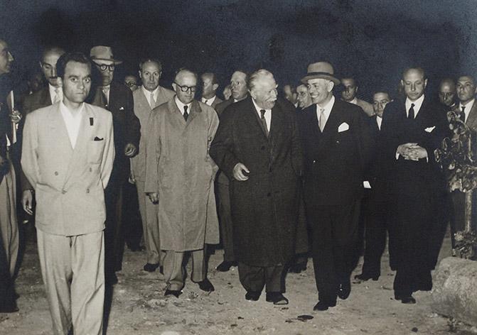 Walter Hallstein, Joseph Bech and Gaetano Martino