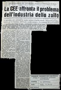 Press Cutting from Newspaper «La Giustizia»