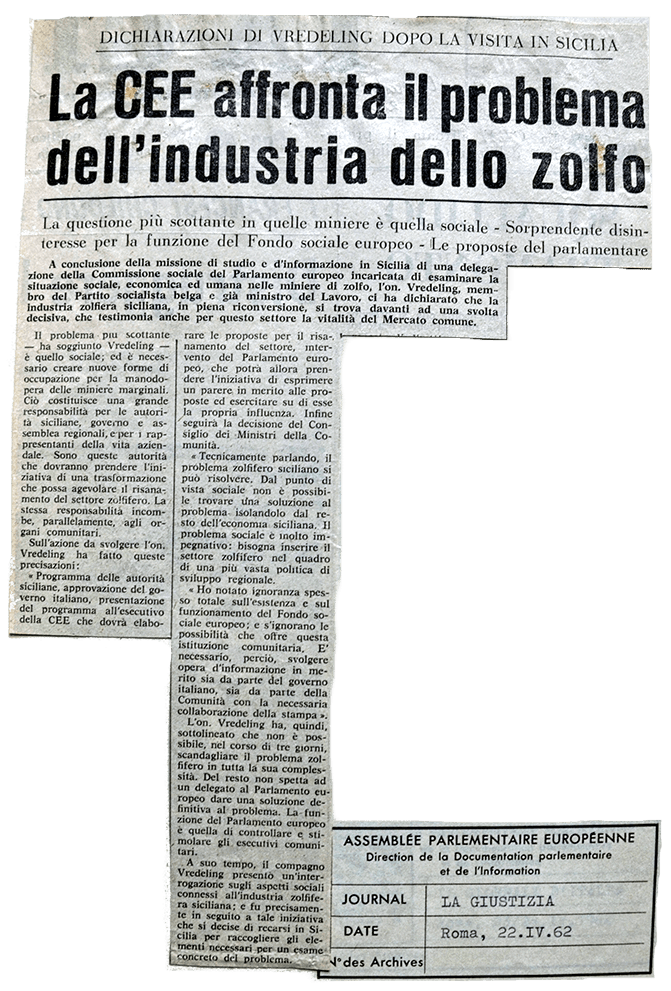 Press Cutting from Newspaper «La Giustizia»