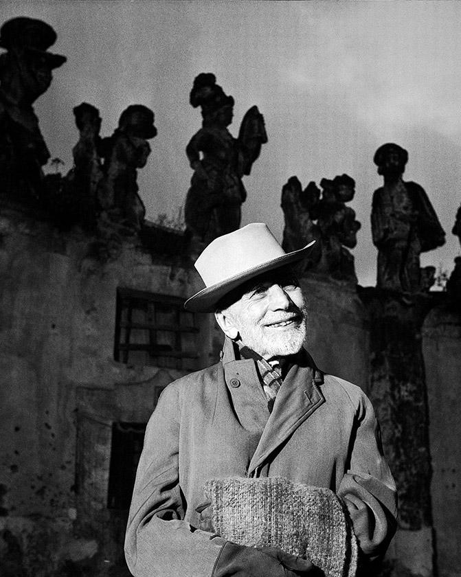 Bernard Berenson at Villa Palagonia,