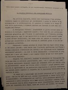 Regional Policy for Mezzogiorn