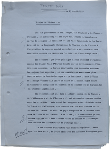 Draft declaration of the Six