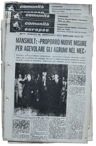 Press cutting of the journal «Comunità Europee»